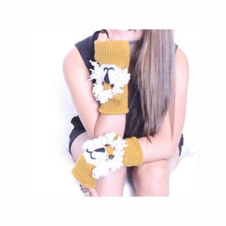 Lion Wool Arm Warmer (Nepal)