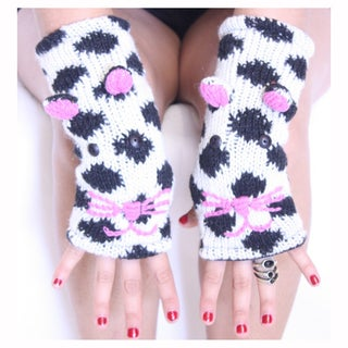 Spotted Cat Wool Arm Warmer (Nepal)
