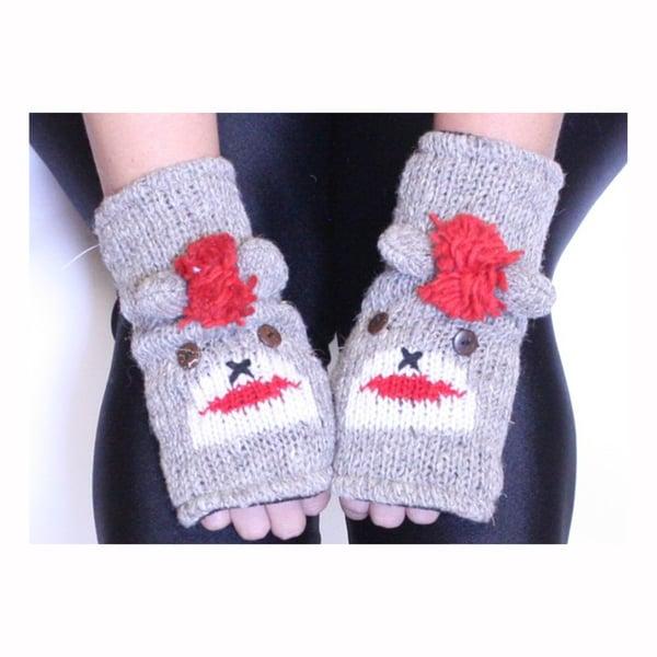 Sock Monkey Cloth Arm Warmer (Nepal)