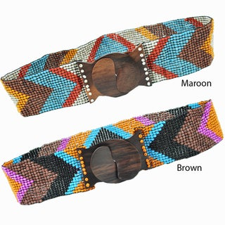 Retro Arrow Beaded Belt (Indonesia)