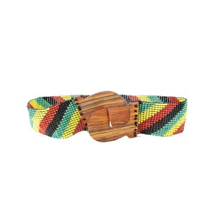 Beaded Retro Rasta Belt (Indonesia)