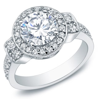 Auriya 14k White Gold 2 3/4ct TDW Certified Diamond Ring (H-I, I2-I3)