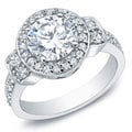 Auriya 14k White Gold 2 3/4ct TDW Certified Diamond Engagement Ring (H-I, I2-I3)