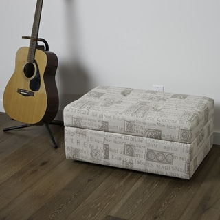 Christopher Knight Home Veranda Latin Script Fabric Storage Ottoman