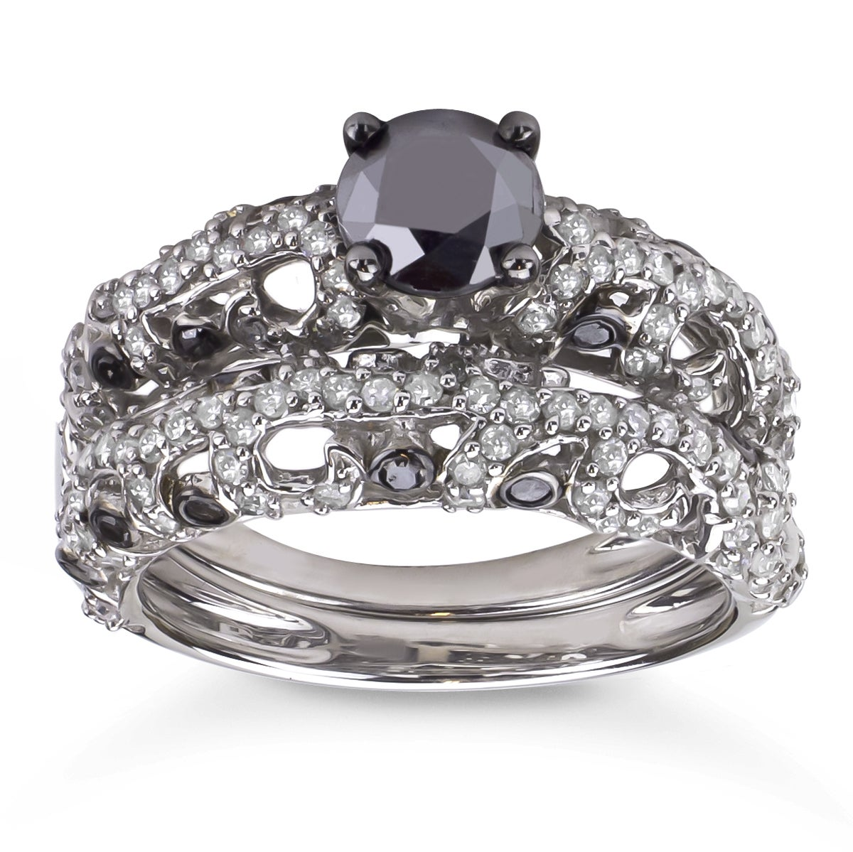 black diamond wedding ring sets wedding ideas