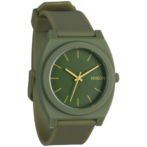 Nixon Women's Matte Army Green Time Teller Watch