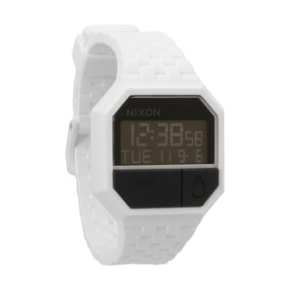 Nixon Men's White and Black Rubber Re-Run Watch