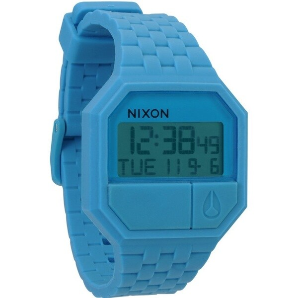 Nixon Men's Sky Blue Rubber Re-Run Watch
