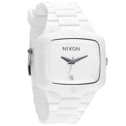 Nixon Men's White Rubber Player Watch