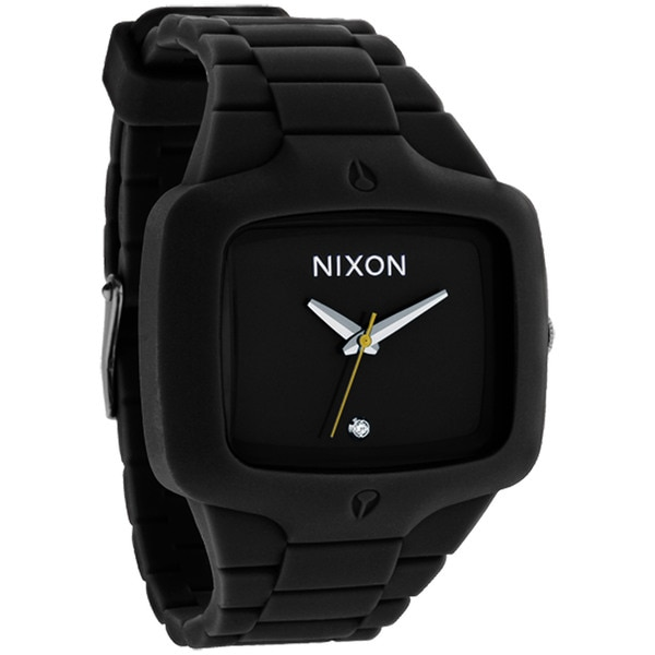 Nixon Men's Black Rubber-strap Water-resistant Player Watch