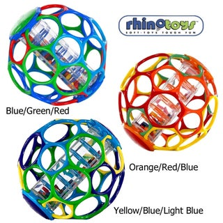 Rhino Toys 6-inch Oball with Rainstick Rattle