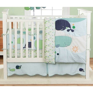 BananaFish MiGi Little Whale 3-Piece Crib Bedding Set