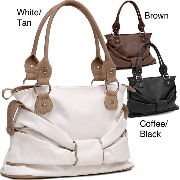 Dasein Faux Leather Shoulder Bag
