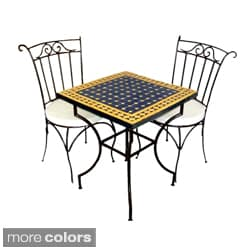 Square Iron Mosaic Dining Set (Morocco)