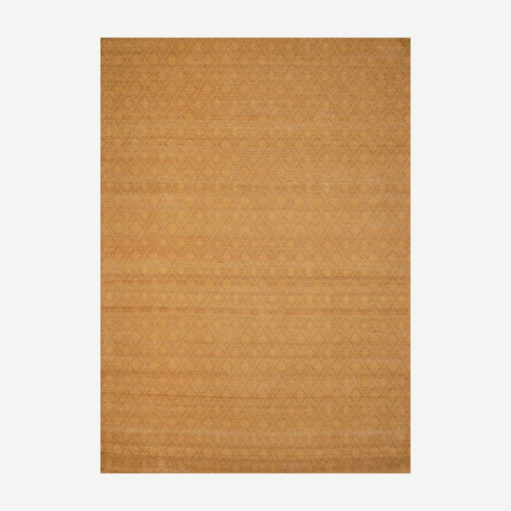 Indo Hand-tufted Flat Weave Brown/ Gold Kilim Rug (5'6 x 8')