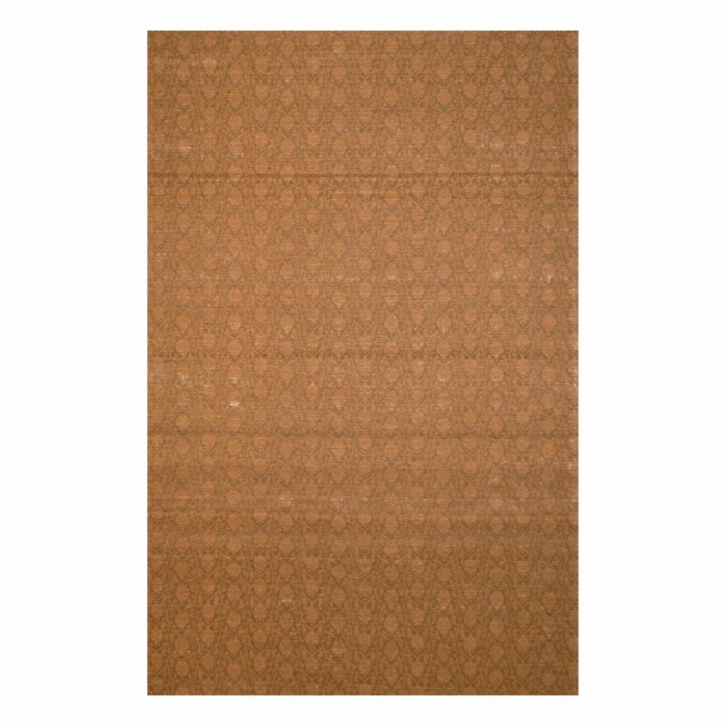 Indo Hand-tufted Flat Weave Brown/ Light Brown Kilim Rug (5'6 x 8')
