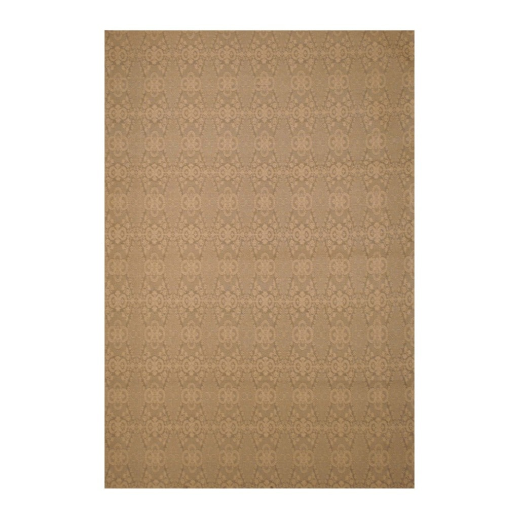 Herat Oriental Indo Traditional Flat Weave Hand-tufted Beige/ Ivory Kilim Wool Rug (5'6 x 8')