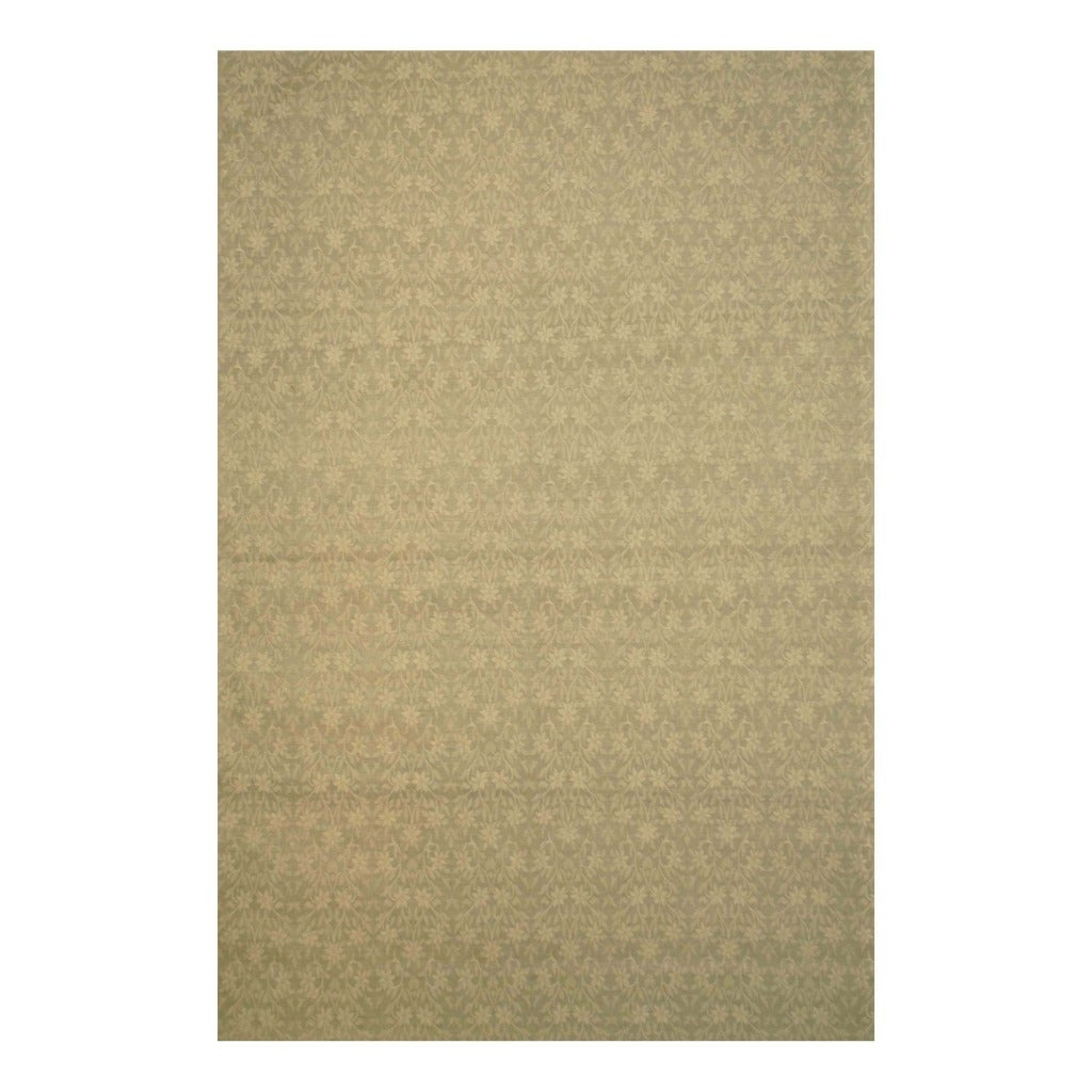"Indo Hand-Tufted Flat-Weave Brown/Light Brown Floral Kilim Rug (5'6"" x 8')"
