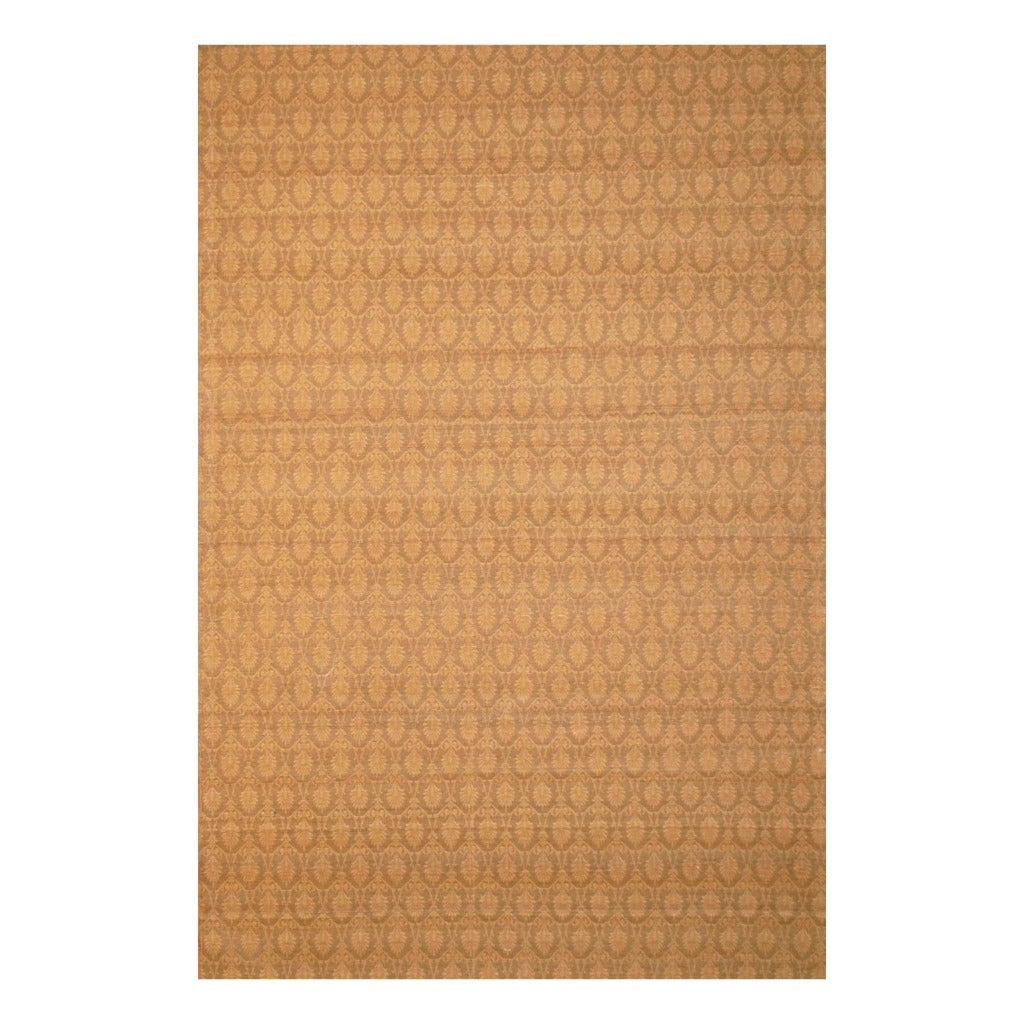 Indo Hand-tufted Flat Weave Gold/ Beige Kilim Rug (5'6 x 8')