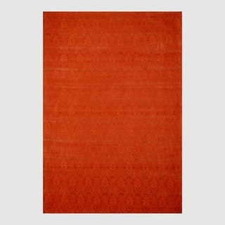 Indo Hand-tufted Flat Weave Rust/ Red Kilim Rug (5'6 x 8')