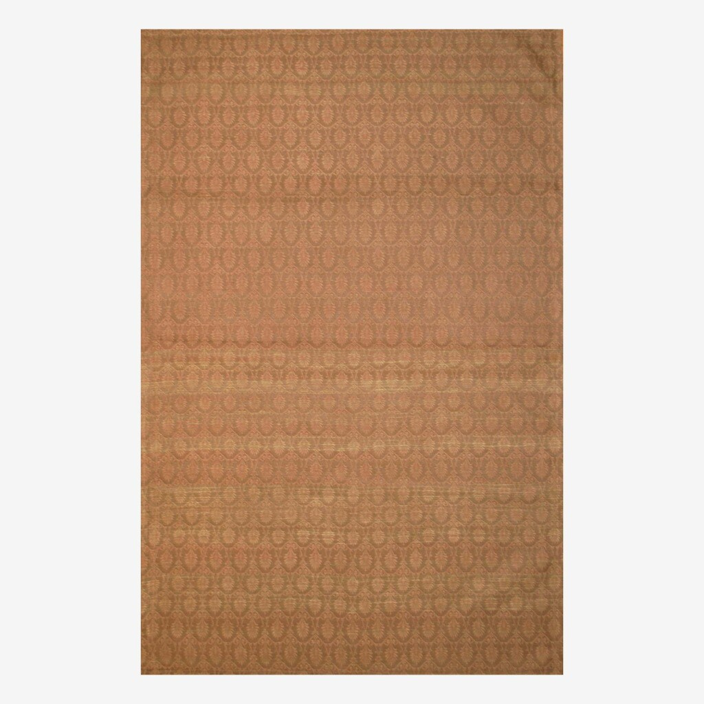 "Contemporary Indo Hand-Tufted Flat-Weave Brown/Light Brown Kilim Rug (5'6"" x 8')"