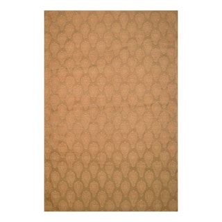 Worldstock Indo Hand-Tufted Flat-Weave Brown/Light Brown Kilim Rug (5'6