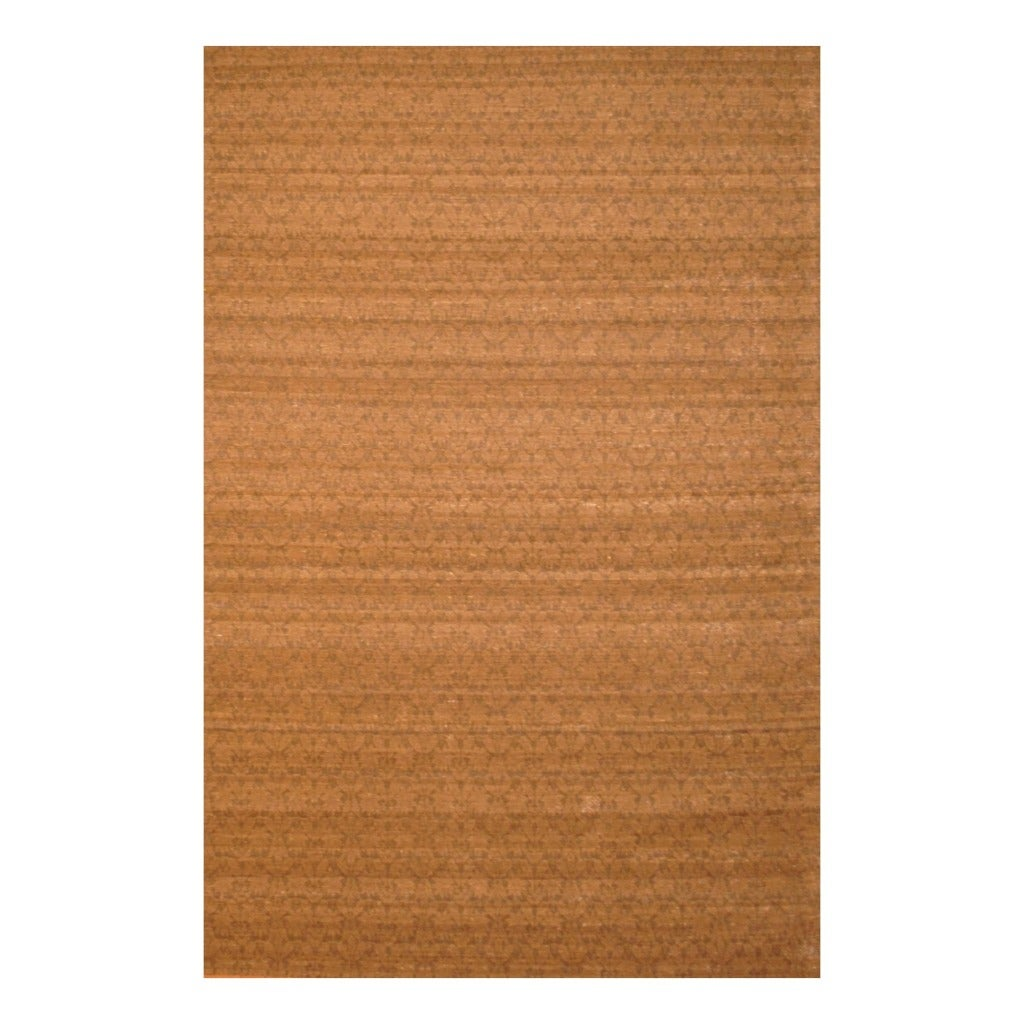 "Gorgeous Indo Hand-Tufted Flat-Weave Brown/Light Brown Kilim Rug (5'6"" x 8')"