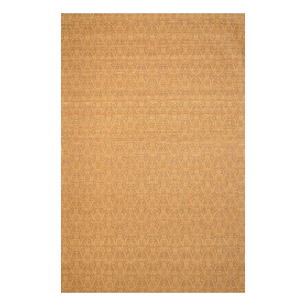 Indo Hand-tufted Flat Weave Gold/ Light Brown Kilim Rug (5'6 x 8')