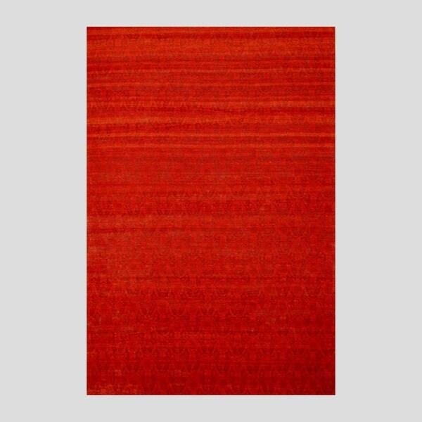 "Large Indo Hand-Tufted Flat-Weave Red/Burgundy Kilim Rug (5'6"" x 8')"
