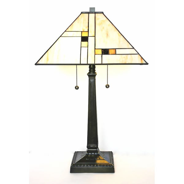 Tiffany Style Golden Mission Table Lamp