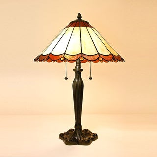 Tiffany Style Scallop Table Lamp