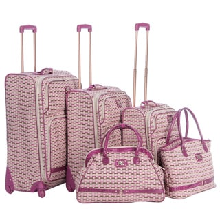 Oleg Cassini 'Monte Carlo' 5-piece Spinner Luggage Set