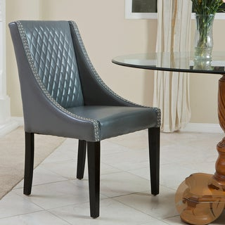 Christopher Knight Home Mandolin Quilted Grey Leather Chair (Single)