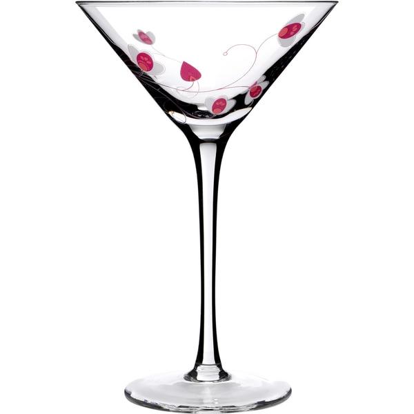 Social Ave by Luigi Bormioli Pink UR Vino 8-ounce Martini Glasses (Set of 2)
