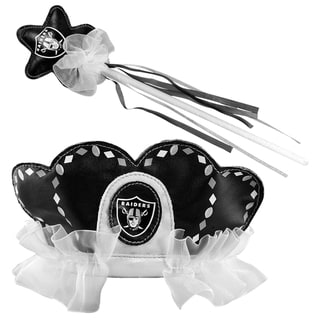 Bleacher Creatures Oakland Raiders Tiara Wand Set
