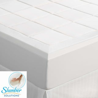 Slumber Solutions Machine Washable 1.5-inch Queen/ King-size Memory Foam Mattress Topper
