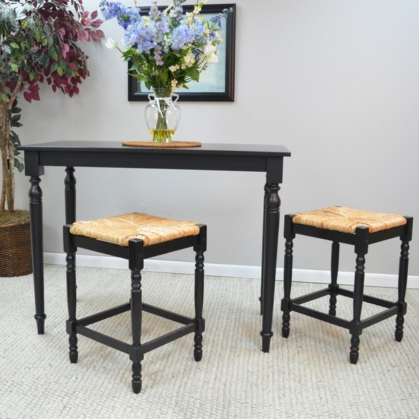 24 inch Antique Black Morgan Counter Stool