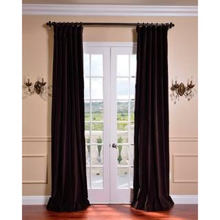 Kona Brown Vintage Cotton Velvet Curtain