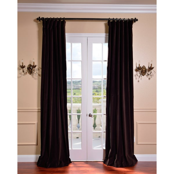 Kona Brown Vintage Cotton Velvet Curtain