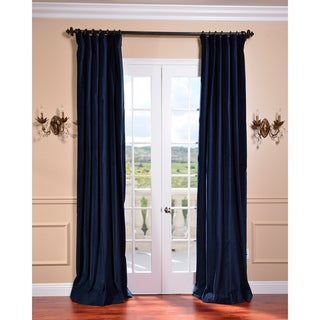 Indigo Blue Vintage Cotton Velvet Curtain