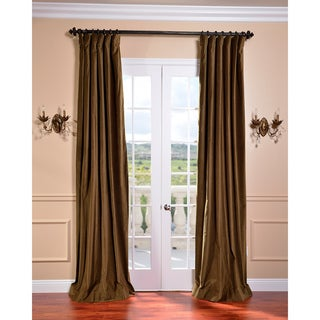 Burnt Olive Vintage Cotton Velvet Curtain