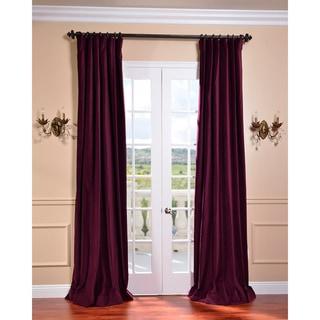 Majestic Plum Vintage Cotton Velvet Curtain