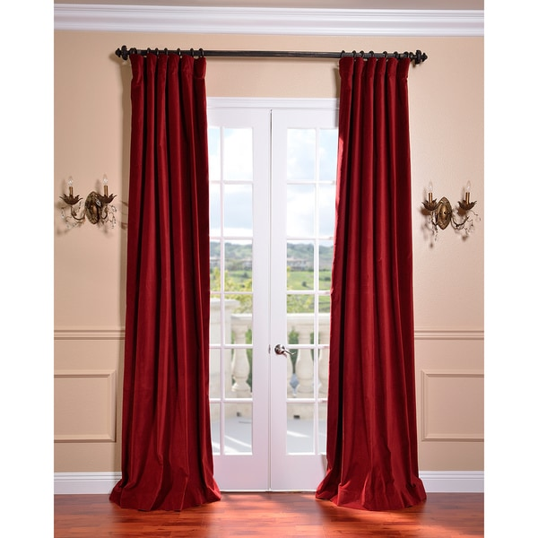 Claret Red Vintage Cotton Velvet Curtain