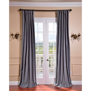 Chinchilla Grey Vintage Cotton Velvet Curtain