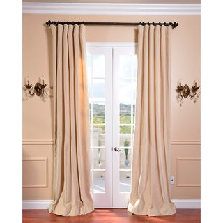 British Tan Vintage Cotton Velvet Curtain
