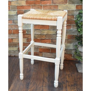 30 inch Antique White Morgan Bar Stool