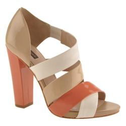 Women's Joan & David Deanza White/Coral/Dune Patent Leather