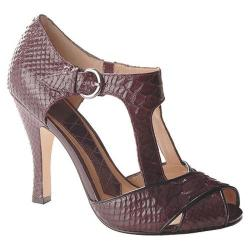 Women's Joan & David Lana Medium Purple/Black Reptile