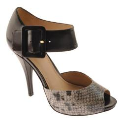 Women's Joan & David Ozya Black/Black Reptile