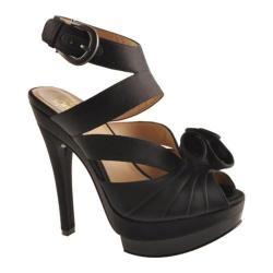 Women's Joan & David Valeria Black/Black Satin